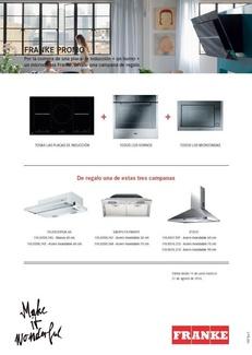 Promoción electrodomésticos Franke