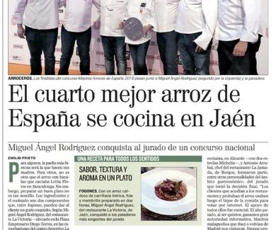 El cuarto mejor arroz de España se cocina en Jaén