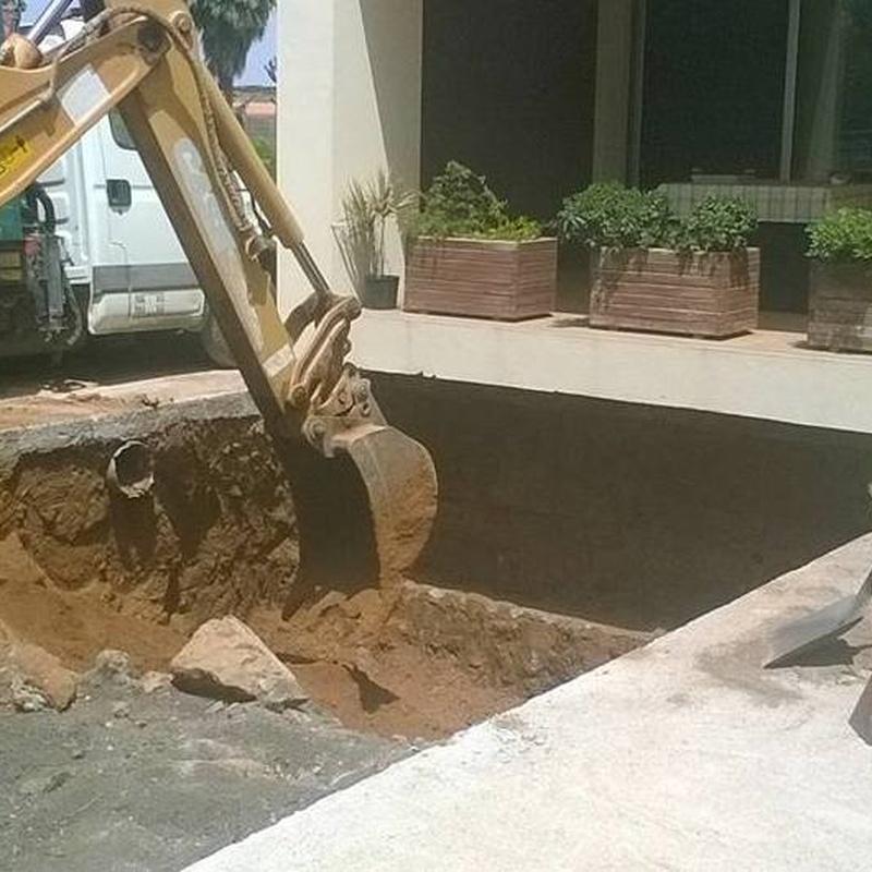 Excavado de vaso piscina