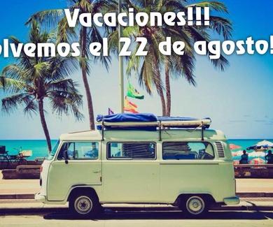 Nos vamos de vacaciones!!!