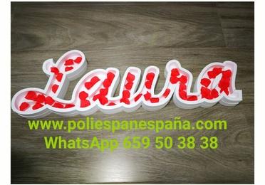 LETRAS HUECAS DE POLIESPAN PARA RELLENAR