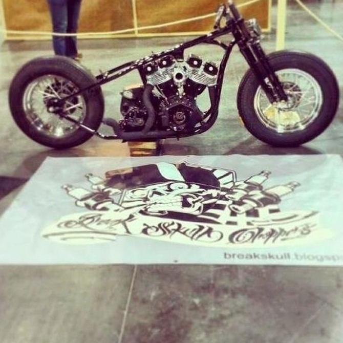 Concentración de Harley Davidson en Móstoles