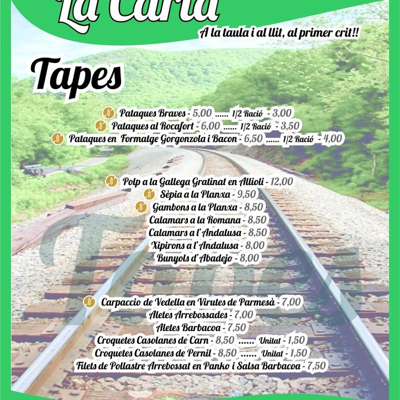 Carta Lo Carrilet Català - Tapes