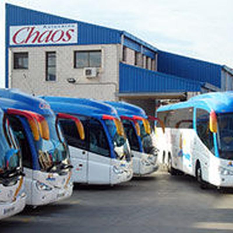 Autocares Chaos, S.A. - Moderna flota de autocares