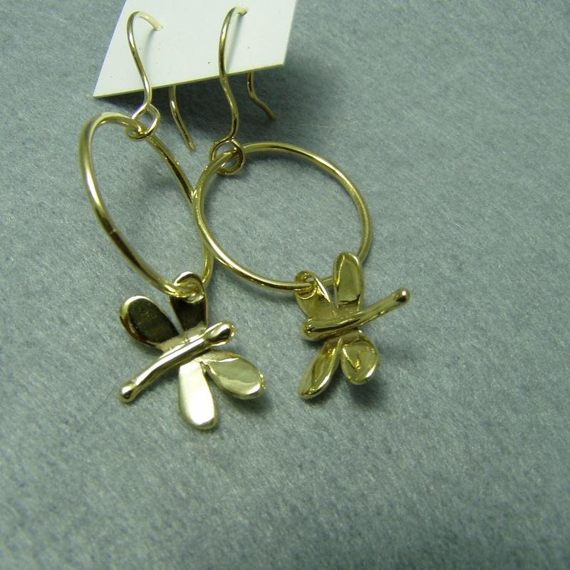 Pendientes libelula aro dorado: Catálogo de Libélula