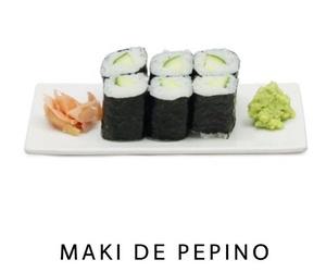 Maki de pepino en Malaga
