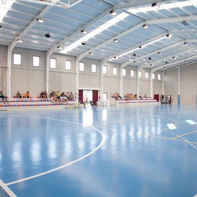 Estructuras metálicas para los pabellones deportivos