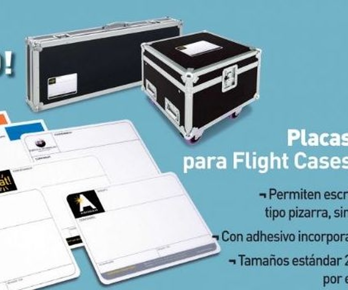 Placa reutilizable para Flight Cases