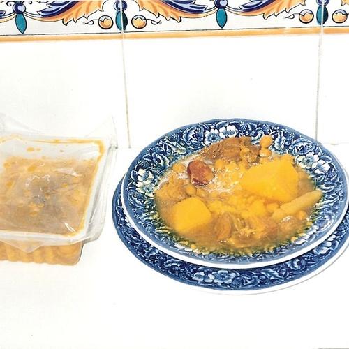 Cocido de magra y costillejas