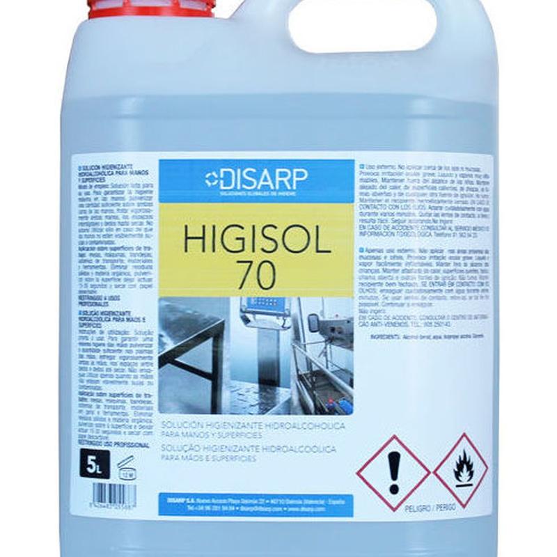 HIGISOL 70: Productos y servicios de Prieto Larrey