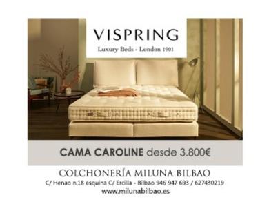 Cama Vispring Caroline en Bilbao