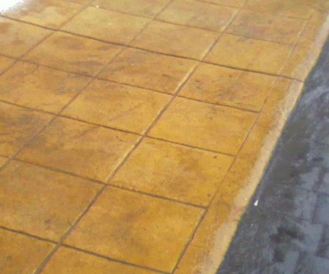 Tres ideas decorativas para el hormigón impreso con molde de madera