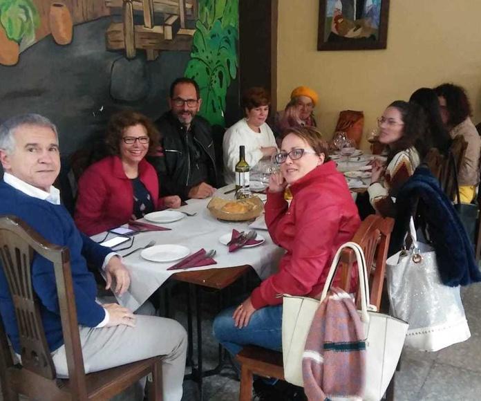 Encuentro en las dependencias de nuestra entidad  con Amparo Tomé González