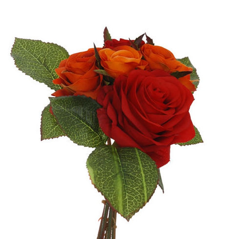 BOUQUET ROSAS Y CAPULLOS COLOR:ORANGE REF.:54038/OR PRECIO: 5,90 €