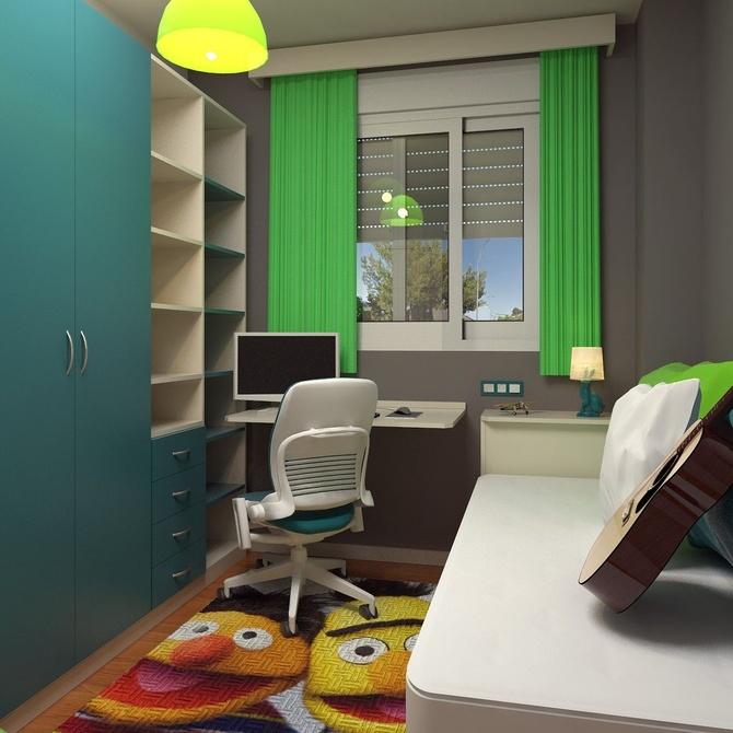 Maximiza el espacio en un dormitorio juvenil pequeño