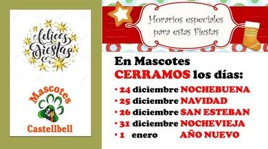 FESTIVOS DE NAVIDAD en Mascotes Castellbell