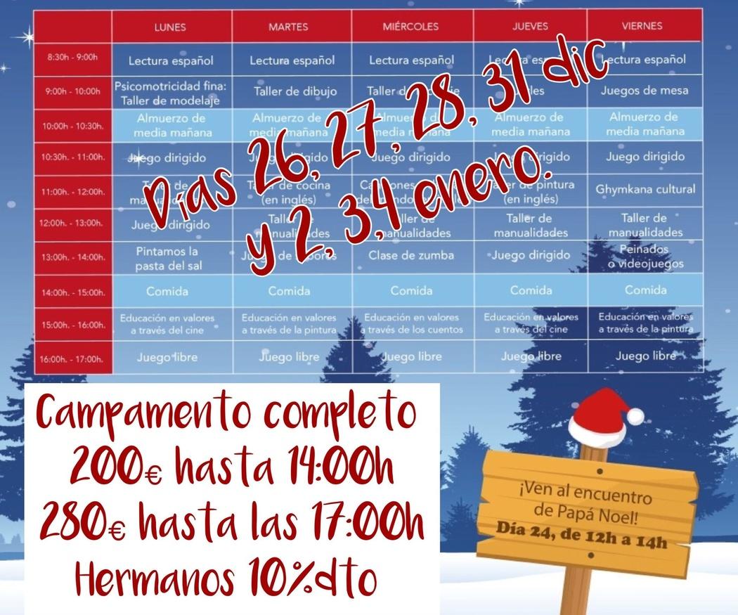 Campamento urbano de Navidad