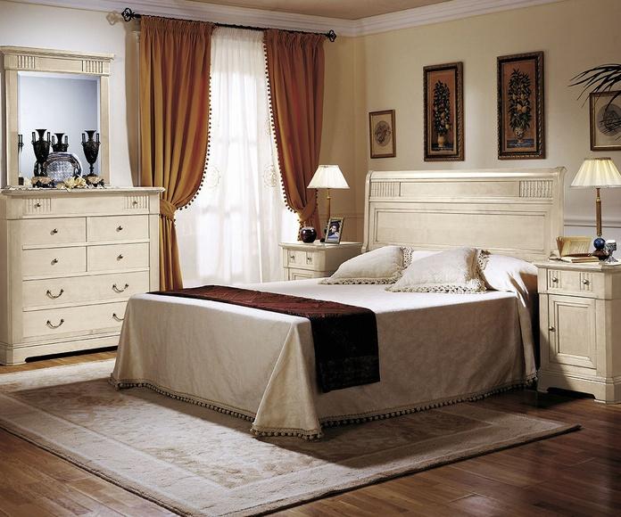 Dormitorio mod 66 Icaro, lacado marfil patinado