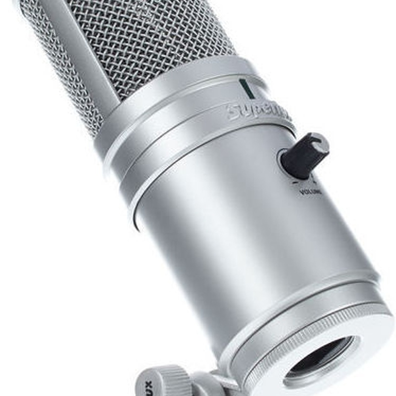 Microfono voz condensador con usb grabaciones caseras Superlux