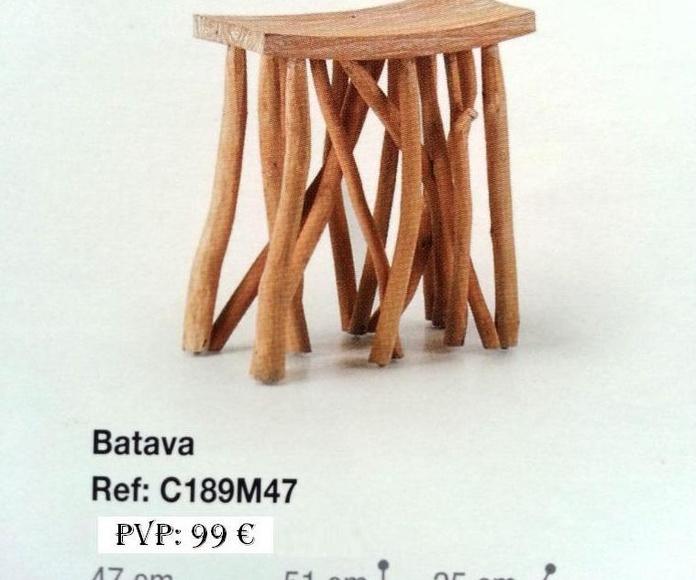 Colección Back in time - Taburete madera 2