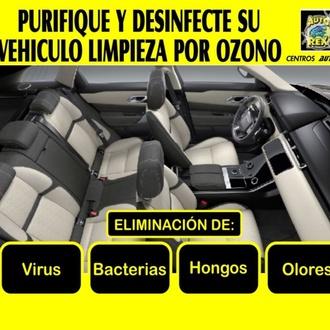 Limpieza vehículos por Ozono