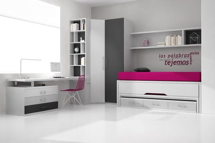 Dormitorio juvenil compuesto PN-02: Catálogo de Spais a Mida