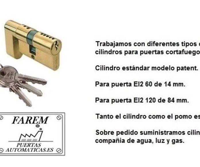 CILINDROS CERRADURAS