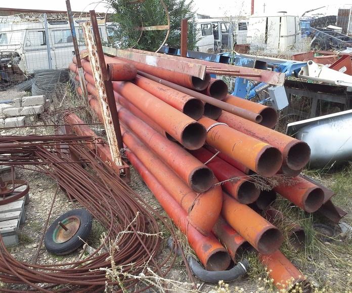 tubos de hierro usados en chatarras clemente de albacete