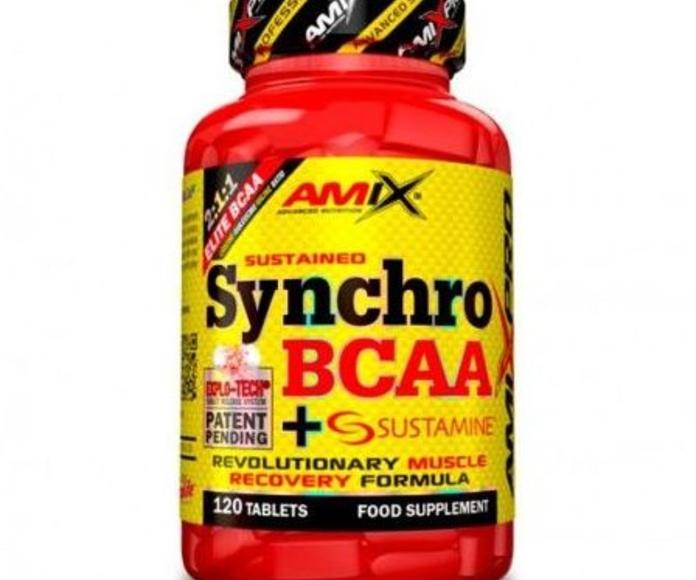 Amix™ Synchro BCAA + Sustamine® es una novedosa y única combinación de aminoácidos ramificados BCAA (L-Leucina, L-Isoleucina, L-Valina) en un ratio óptimo de 2:1:1 y el ingrediente patentado Sustamine®.