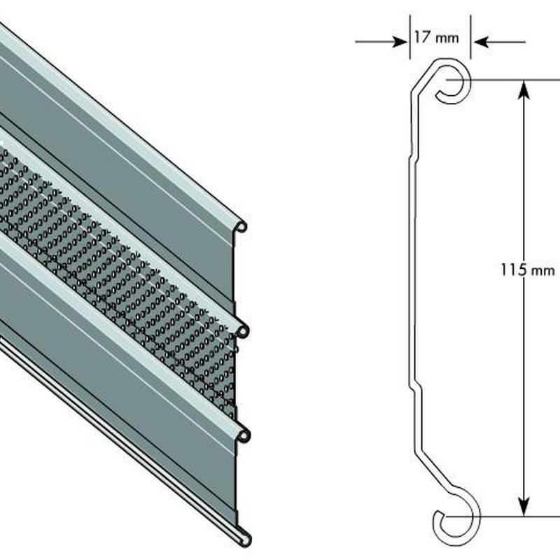 perfil c115 plano y microperforado
