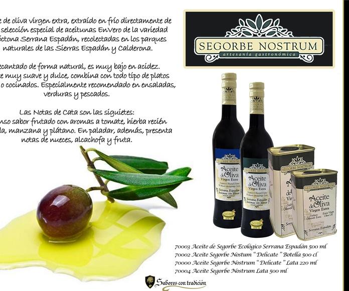 """Aceite de Oliva Virgen Extra """" Segorbe Nostrum """": Productos de Sabores con tradición"""