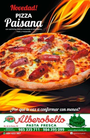novedad pizza paisana
