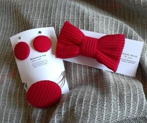 Pajaritas de caballero y bisutería en tela  a juego para mujer, conjuntadas