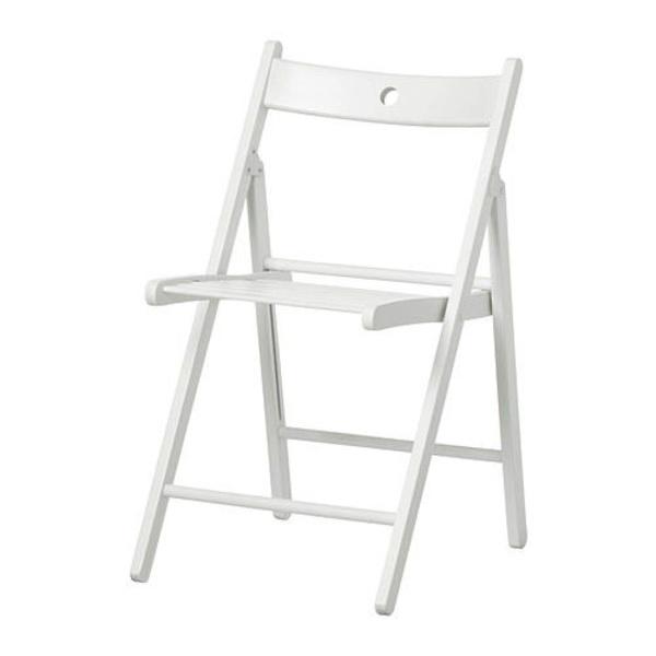 Alquiler silla madera plegable color blanco Llanes