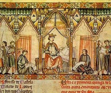 """Alfonso X """"El Sabio""""  y la  Escuela  de Traductores de Toledo"""