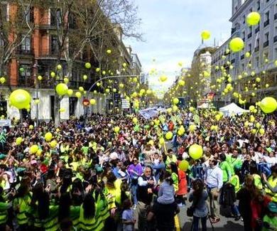 Pantallas Movidic en la manifestación Si a la Vida celebrada en Madrid 2019