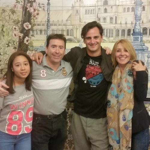"""Asier y Cayetana, con Natali y Josele, """"gente guapa """", con buen paladar cinefilo"""