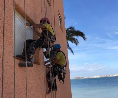 Trabajos verticales Murcia y trabajos en altura en Murcia