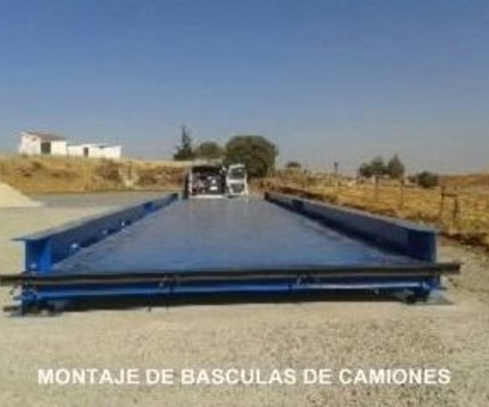 Montaje de básculas de camiones: Servicios de Básculas y refractómetros Barrilero y García, S.L.