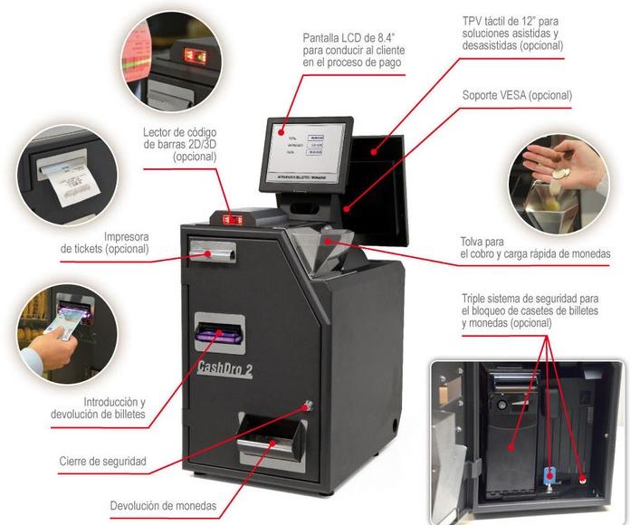 El cajón portamonedas inteligente para los establecimientos más exigentes