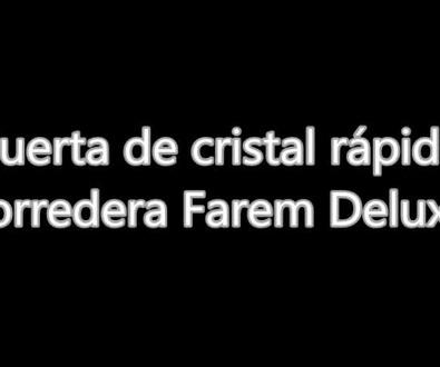 Puerta de cristal automática corredera Farem Deluxe Panadería Valencia