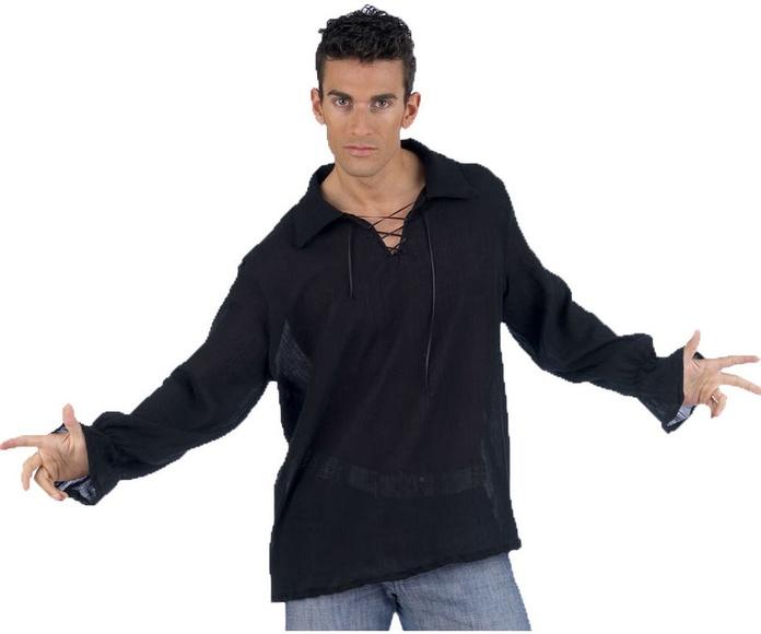 Camisa medieval negra