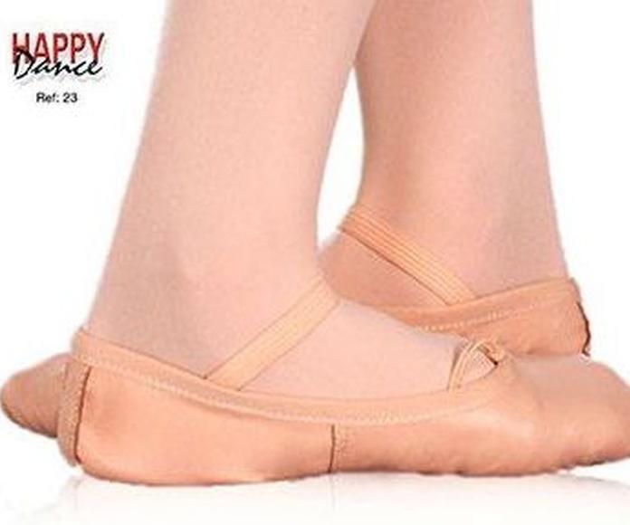 Zapatilla ballet piel suela entera