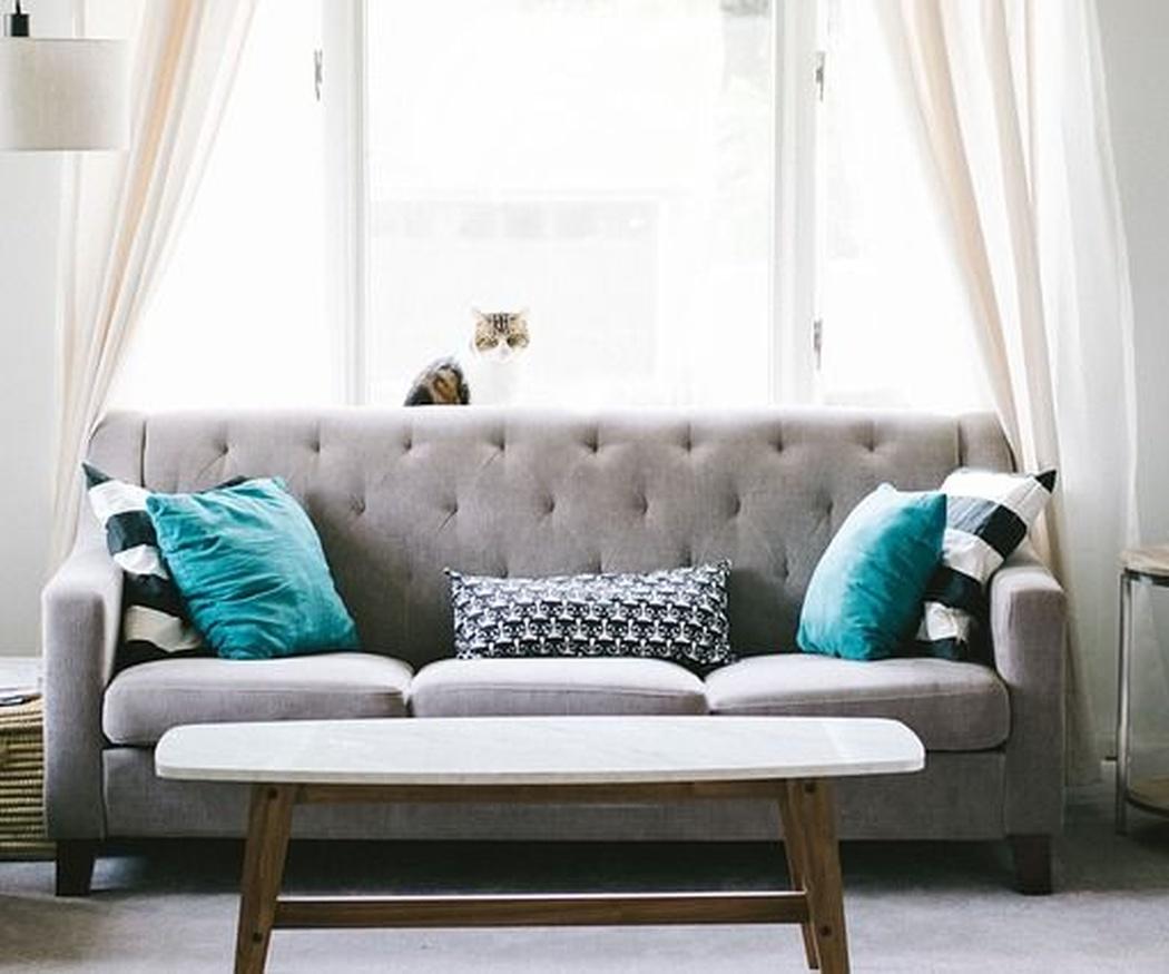 Ideas para combinar estores y cortinas