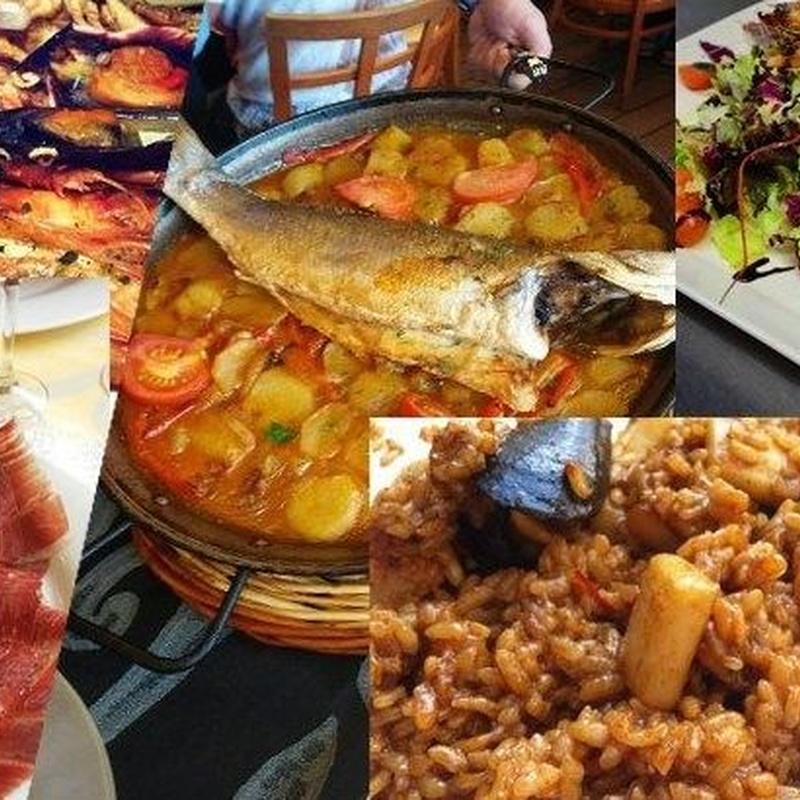 Rest. La Fonda del Port Olimpic. Menús para grupos para comidas o cenas: Menús restaurantes de Grupo Silvestre