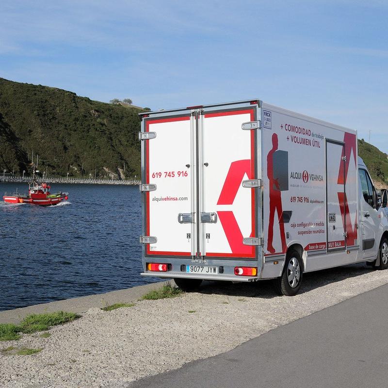Alquiler vehículos industriales frigoríficos Asturias