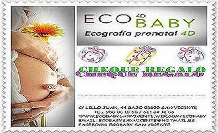 CHEQUE REGALO: Servicios  de ECOBABY 4D/5D  Tel.  661 32 12 56