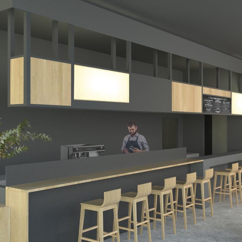 Bar - Restaurante IRIA FOOD. SAPUI Arriandi: Servicios y proyectos de Maurtua Arquitectos