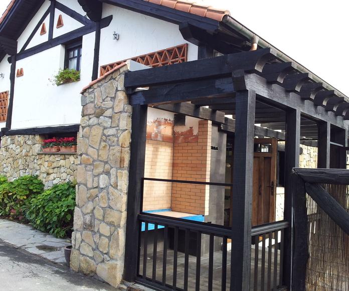 Porche Restaurante Basalbo en Algorta (Getxo)