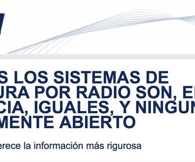 TODOS LOS SISTEMAS DE LECTURA POR RADIO SON, EN ESENCIA, IGUALES, Y NINGUNO ES REALMENTE ABIERTO